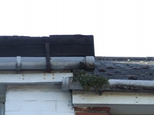 Poorly maintaned guttering