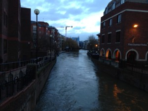 High water in Reading, Berkshire