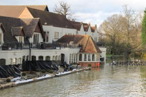 Flood defenses - The Swan Hotel Goring