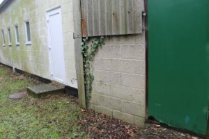Poorly maintained external wall