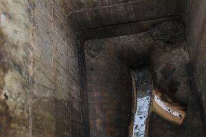 Homebuyers report discovers partially blocked drain