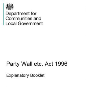 Government Guidance on Party Walls